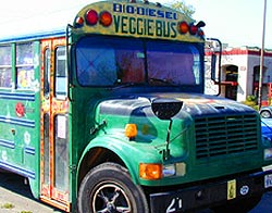 Old Berkeley School Bus Transformed Into Colorful Solar Biodiesel